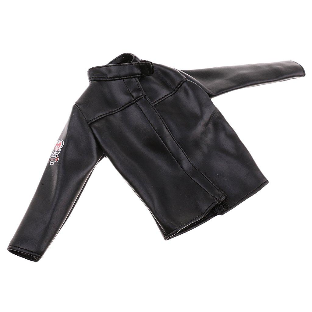 MagiDeal 1//6 PU Leder Rock Puppe Kleidung für 12 /'/' weibliche Figur schwarz