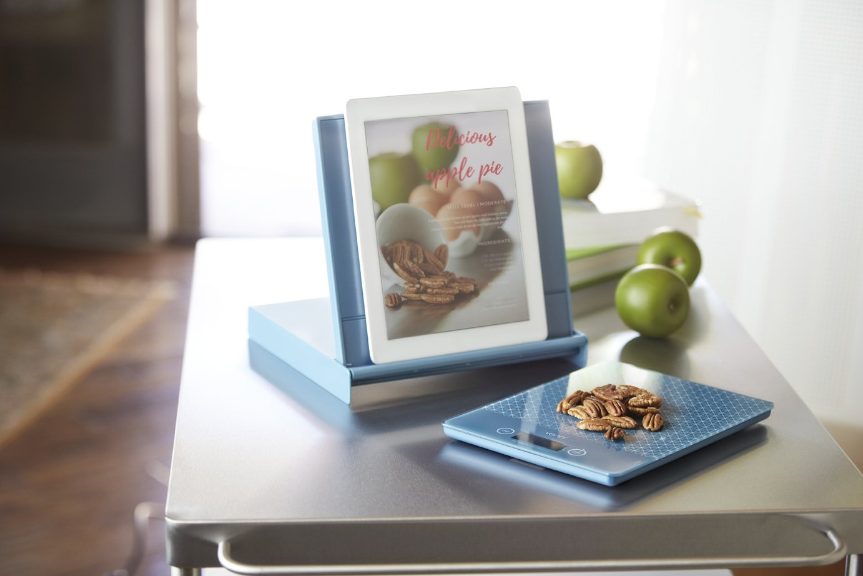 Gray Venn by Captivate Brands VNKITSCAGRY Venn Kitchen Scale with Integrated Bowl Scraper