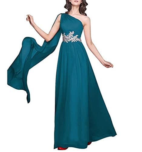QINGYUAN Bridesmaid Dress Appliques Chiffon Long Evening Prom Homecoming Dress