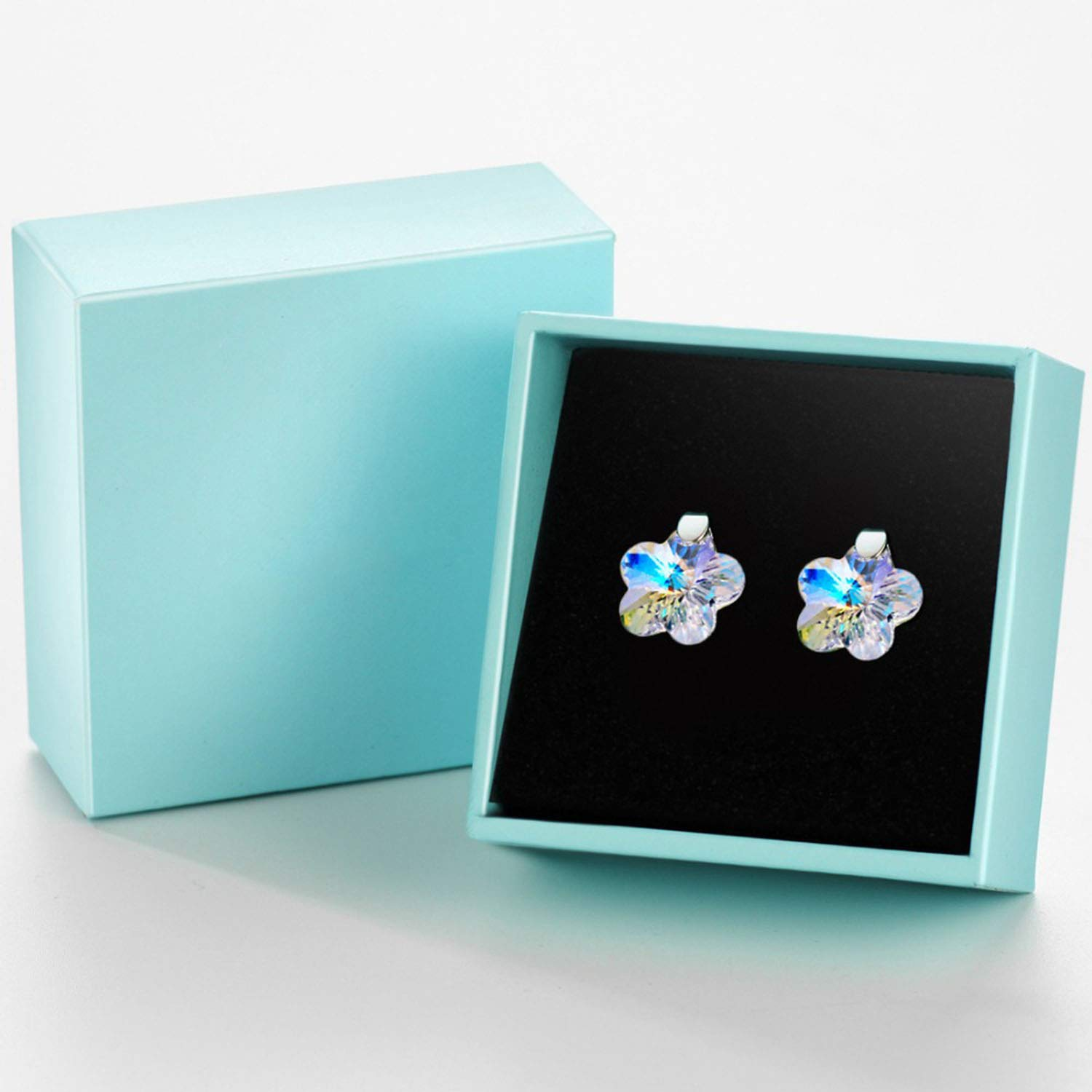 Crystal Shiny Simple Flowers Crystal S925 Stud Earrings Fashion Jewelry 2019 New Birthday Gifts