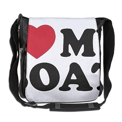 I Love My Boat Fashion Print Diagonal Single Shoulder Bag