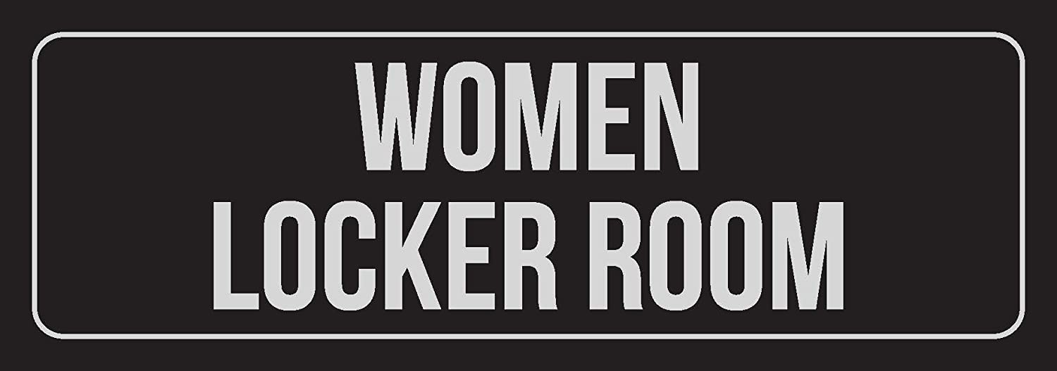 iCandy Combat Black Background with Silver Font Women Locker Room Business Retail Outdoor /& Indoor Metal Wall Sign 3x9 Inch Single