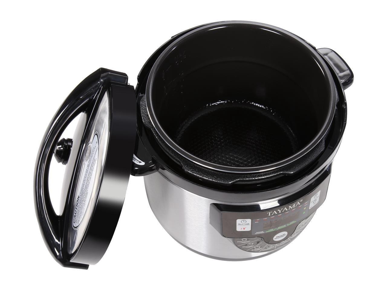 Tayama TMC-60XL 6 quart 8-in-1 Multi-Function Pressure Cooker, Black by TAYAMA (Image #7)
