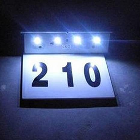 Lights & Lighting Beautiful Outdoor Stainless Steel Solar Light Stainless Steel Led Doorplate Lamp House Number&letters Light Apartment Number Light