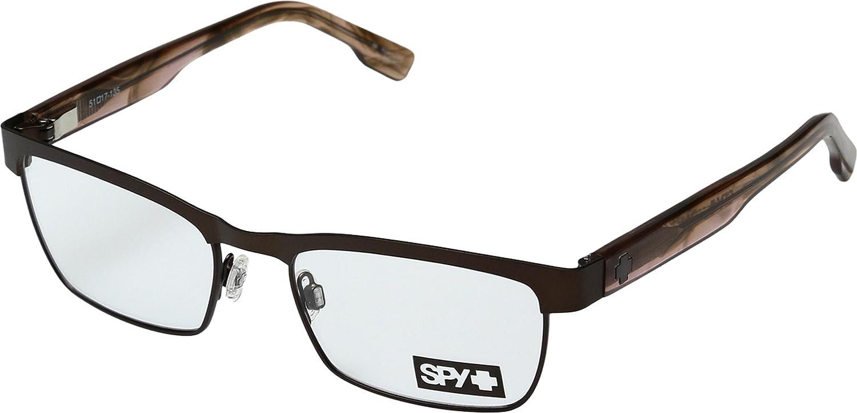 Spy Optic Unisex Paxton Matte Deep Brown//Pink Smoke Reading Glasses