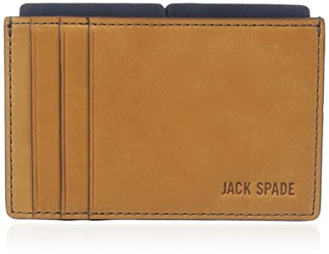54298bbe1007 Jack Spade Mitchell Leather File Wallet Cell Phone Wallet Saddle Navy One  Size