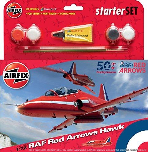 Airfix 1:72 RAF Red Arrows Hawk 50th Display Season Starter Set () by -