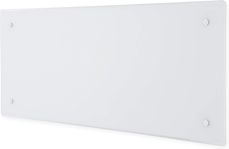 ADAX Clea H - Radiador eléctrico Moderno de Vidrio 340mm, 600W | KDT Blanco | IP24C, Class II