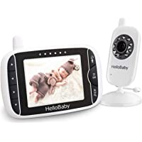 HelloBaby Video Baby Monitor with Night Vision & Temperature Sensor, Two Way Talkback System (HB32)