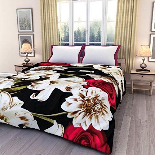 eCraftIndia Multicolor Floral Printed Single Bed Reversible AC Blanket