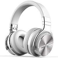 Cowin E7 PRO Active Noise Cancelling Bluetooth Kopfhörer mit Mikrofon Hi-Fi Deep Bass Wireless Kopfhörer über Ohr 30H Spielzeit für Reisen Arbeit TV Computer Telefon(Weiß)