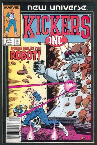 KICKERS INC #2 Marvel comic book 12 1986 - Kicker Frog