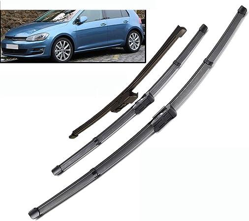 3 Pezzi spazzole tergicristallo Parabrezza, per VW Golf 7 MK7 2012