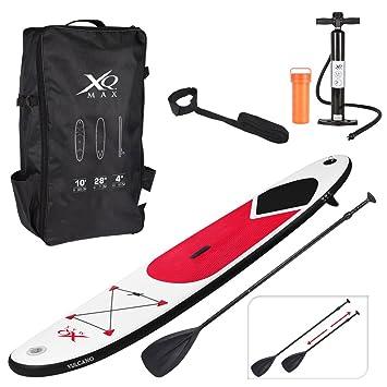 Tabla de paddle surf inflable de XQMax Sports, SUP con bomba de aire y bolsa