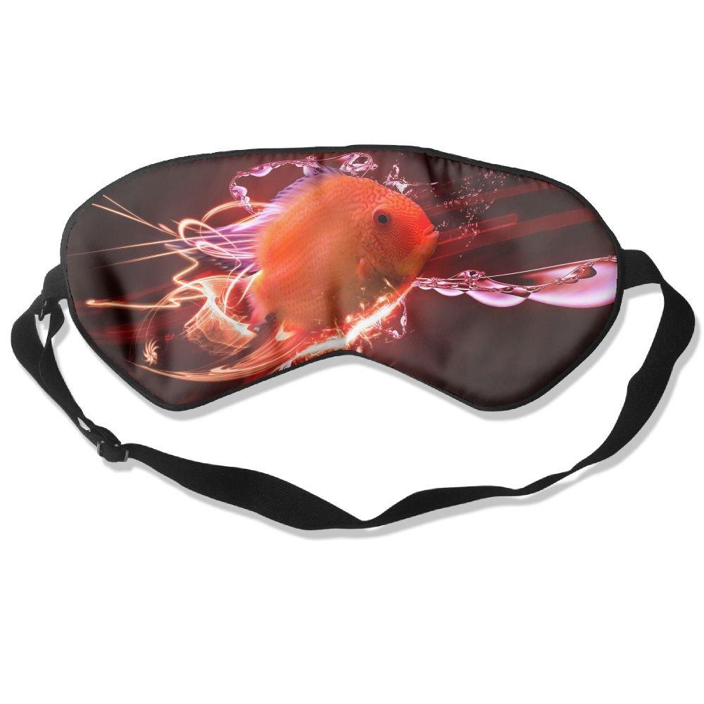 Sleep Mask Tropical Fish Eye Cover Blackout Eye Masks,Soothing Puffy Eyes,Dark Circles,Stress,Breathable Blindfold by MB32