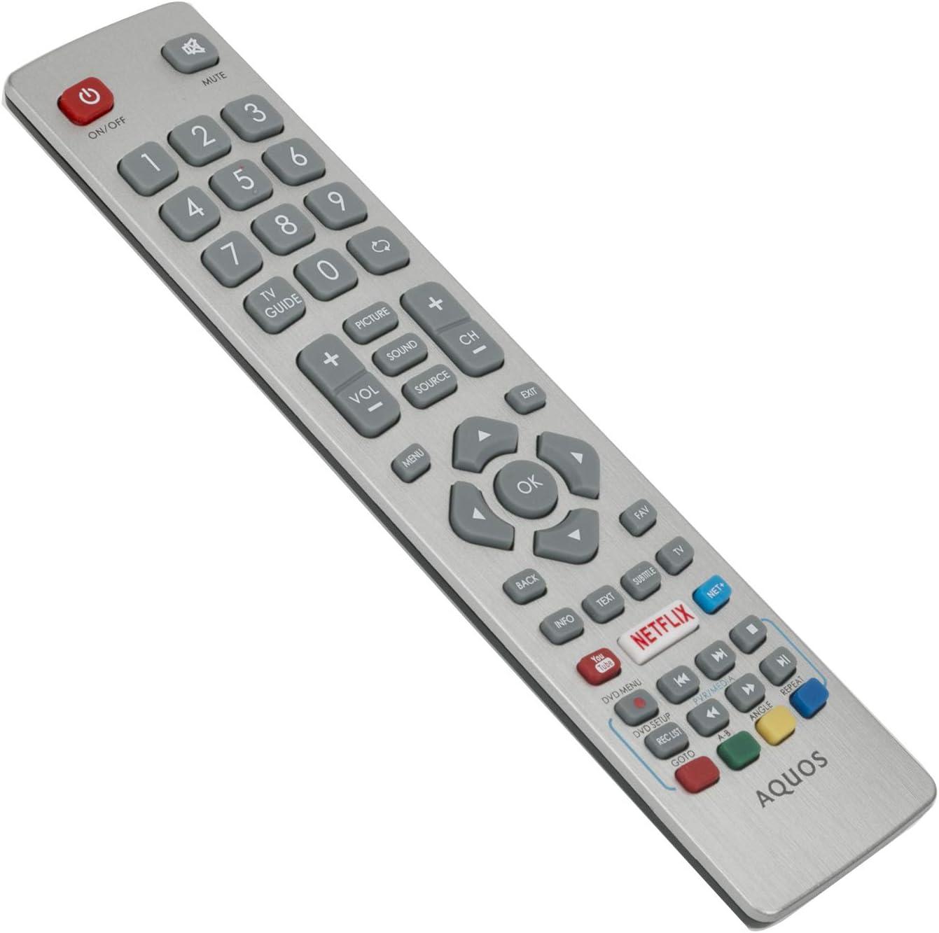 Vinabty Shwrmc0115 Aquos Fernbedienung Mit Netflix Elektronik
