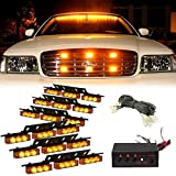 Ronben Set 54 LED Emergency Car Vehicle Strobe Lights Bars Warning Deck Dash Grille (Yellow)