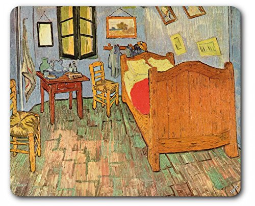 (Vincent Van Gogh Mouse Pad - Bedroom in Arles, 1889 (9 x 7 inches))