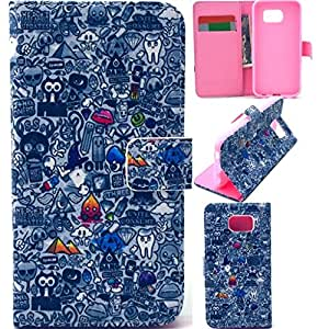 s6 edge leather case,Kaseberry Wallet leather Case Cover for Samsung Galaxy S6 edge,galaxy s6 edge wallet case 0006