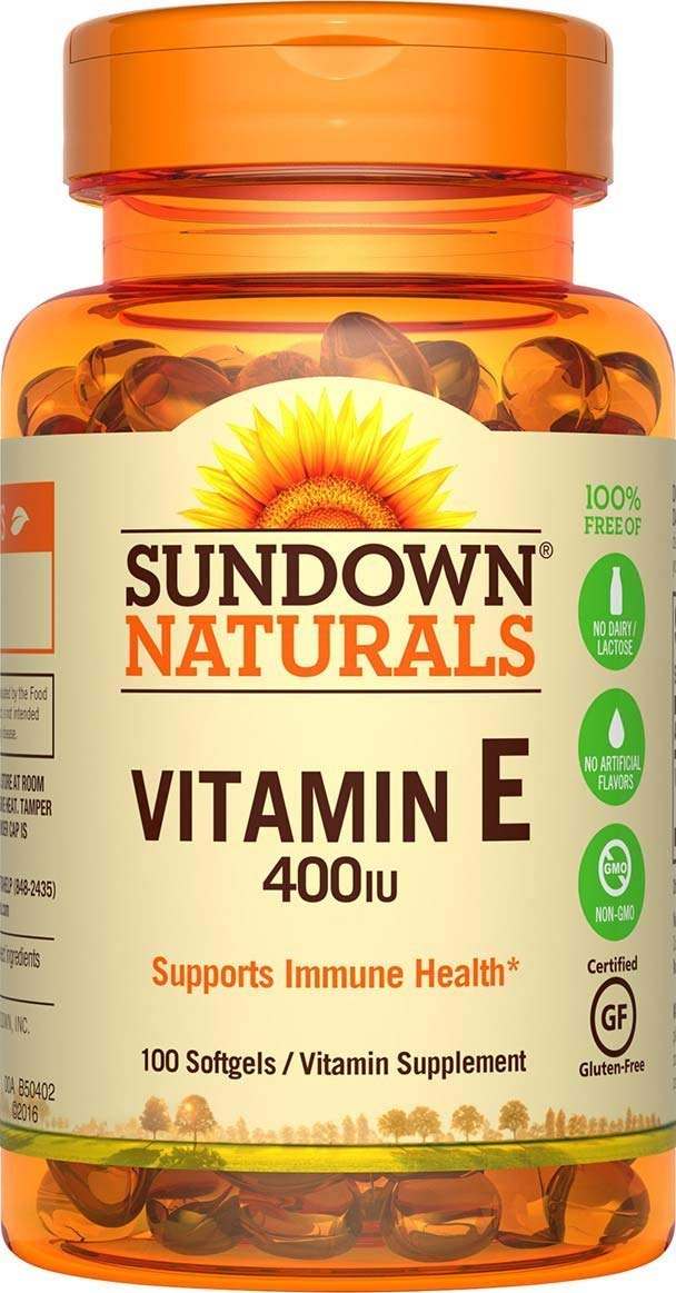 Sundown Naturals Vitamin E 400 IU Di-Alpha, 380 Synthetic Softgels (380 Count)