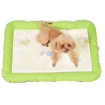 DaoRier Tela Alfombra Casa para Mascotas Cama de Perro Gato Puppy Conejo Mascota Antideslizante Plegable Suave Calentar con Cojín Verde 68cm×47cm×5cm: ...