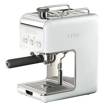 Kenwood ES 020 kMix - Máquina de café espresso con portafiltros, 1100 W, 15 bares, color blanco: Amazon.es: Hogar