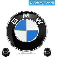 BMW Emblems Hood and Trunk, BMW Emblem Logo for ALL Models BMW E30 E36 E46 E34 E39 E60 E65 E38 X3 X5 X6 3 4 5 6 7 8 82mm