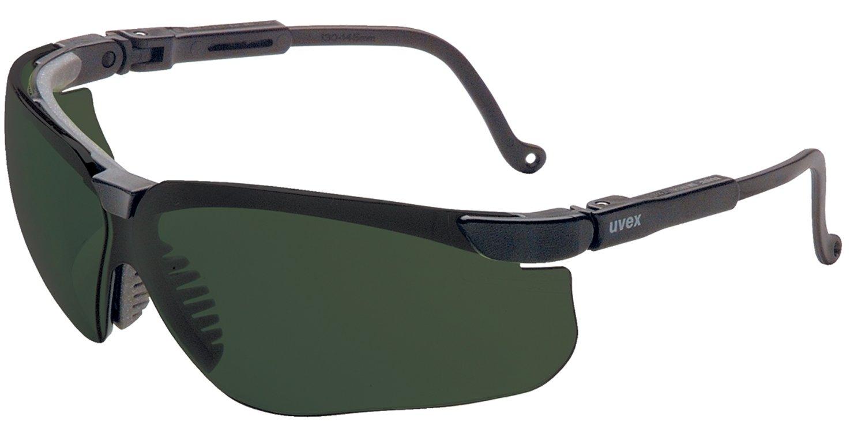 Black Frame Uvex by Honeywell S3208 Genesis Eyewear Shade 5.0 Infra-dura Polycarbon Hard Coat Lenses