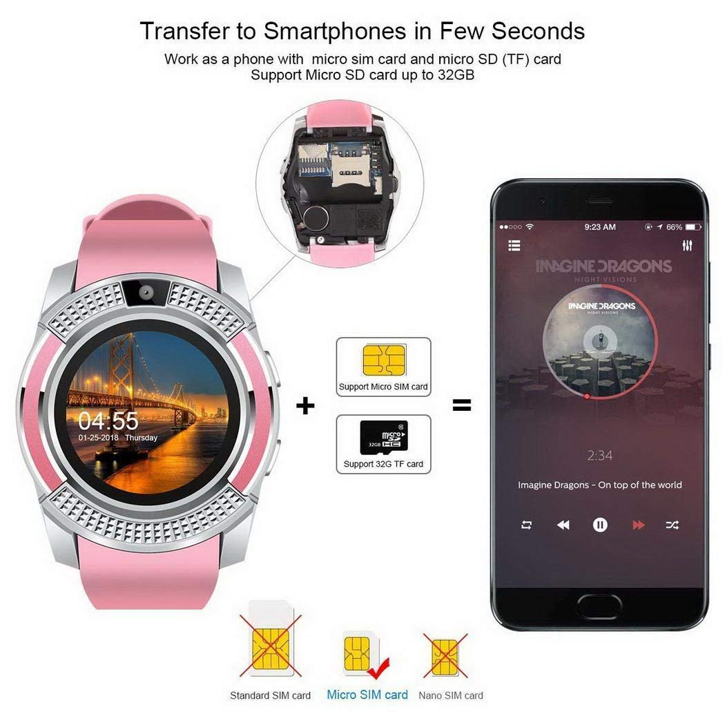 YENJOS Bluetooth Smart Watch Fitness Podómetro Sleep Monitor ...