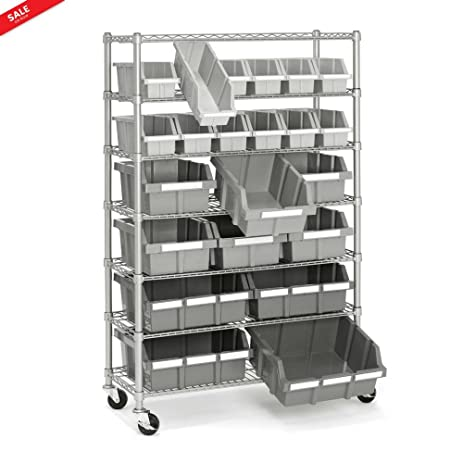 Big Metal Shelf Convinient Work Surface Organizing Stuff GarageStorage  Workshop Heavy Duty Module Ergonomic Space