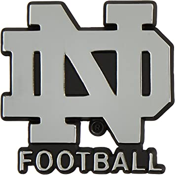 University of Notre DameND FOOTBALL Block Letters Chrome Plated Premium Metal Emblem Car Truck Motorcycle NCAA College Sports Logo