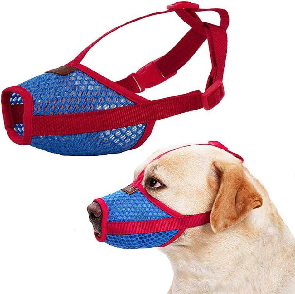 Bozal Anti-mordedor Secure Fit Bozal para Perros Malla Transpirable con Forma de Boca para Perros peque/ños y Grandes PETEMOO Bozal para Perros