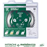 """Hitachi 115435 10"""" 60T Fine Finish VPR Miter Saw Blade (Discontinued by the Manufacturer)"""
