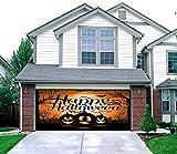Night of the Jack-O'-Lantern - Outdoor Halloween Holiday Garage Door Décor 7'x16' - ''The Original Holiday Garage Door Decor''