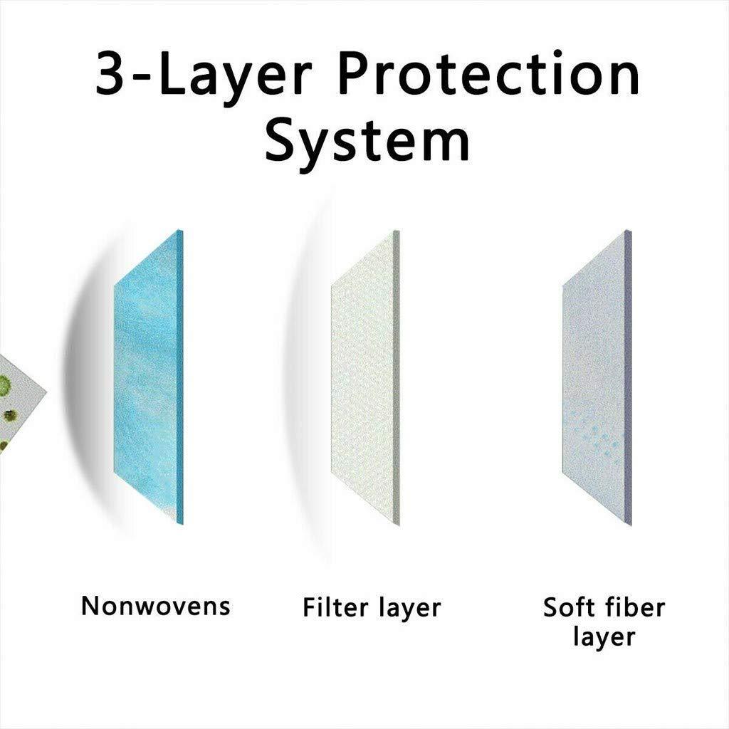 Ni/ños Protecci/ón 3 Capas Transpirables con El/ástico para Los O/ídos Pack 10//20//50//100 unidades