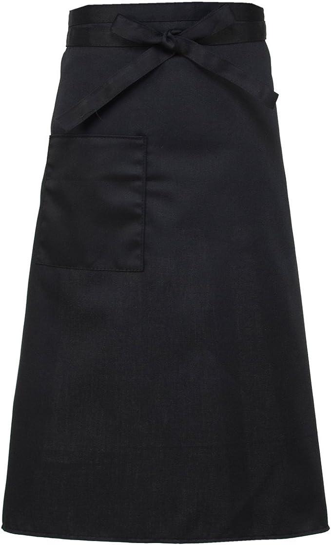XINFU Chef Mens Unisex Waist Apron Full Bistro Half Apron Uniforms Aprons Womens