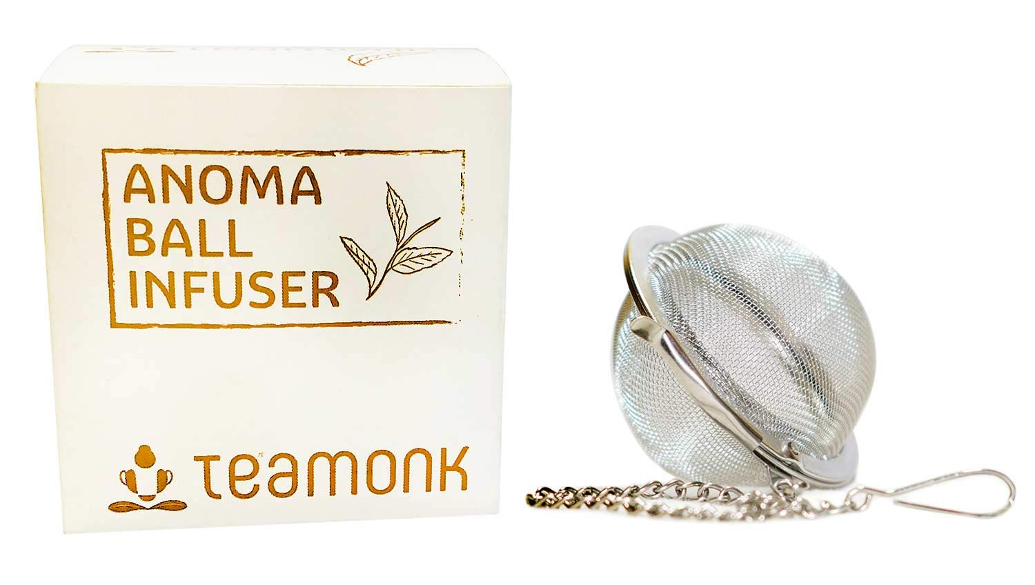 Teamonk Anoma Ball Infuser (Tea ball Infuser, Tea Infuser, Tea Strainer, Tea Filter, Tea Maker, Tea Ball, Stainless Steel) 8906088693320