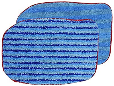 McCulloch A1375-100/101 Compatible Replacement Microfiber Steam Mop Pads Refills fits McCulloch MC1375, MC1385 Steam Cleaner and Steamfast SF-375 Steam Cleaner, 2-Pack (1 Soft and 1 Scrubbing)