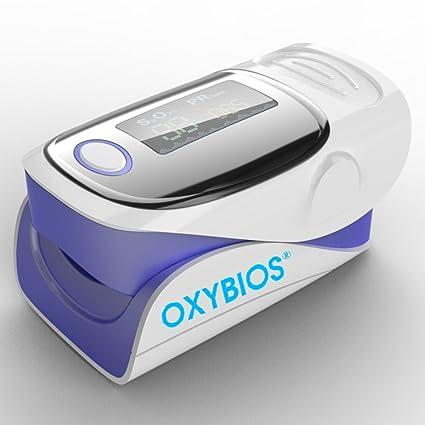 Oxímetro de dedo OLED medir los niveles de oxígeno en sangre SpO2 y pulso