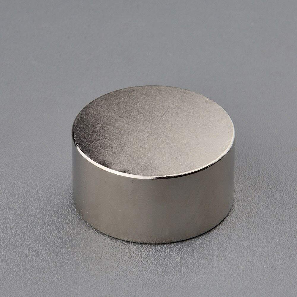 Silver - 2PCS Super Powerful Neodymium Magnet D4020mm Strong Pull-Force N38 Rare Earth NdFeB Slow Down Gas Meter Water Meter