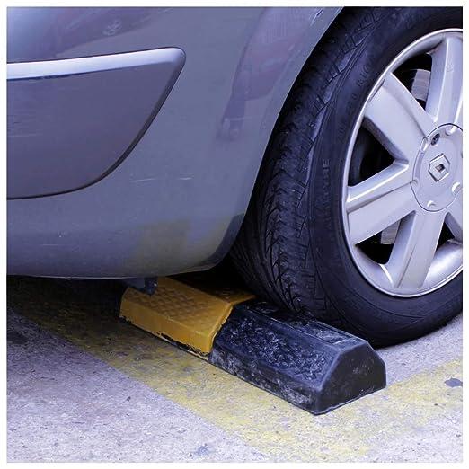 PrimeMatik - Tope de suelo para ruedas de parking aparcamiento de goma 50 cm: Amazon.es: Electrónica