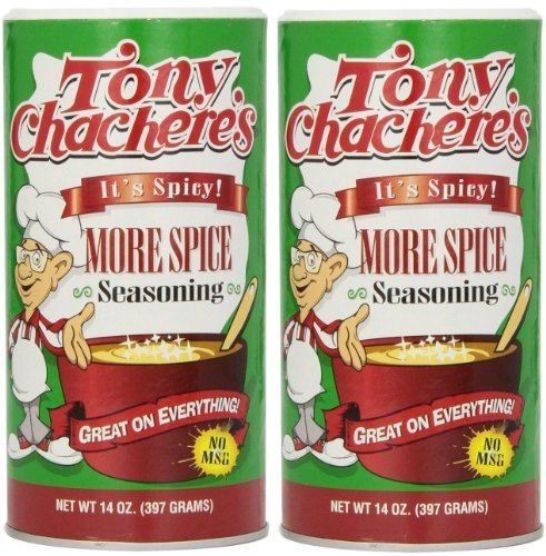 Tony Chacheres More Spice Creole Seasoning - 14 oz (2 Pack) by Tony Chacheres More Spice Creole Seasoning