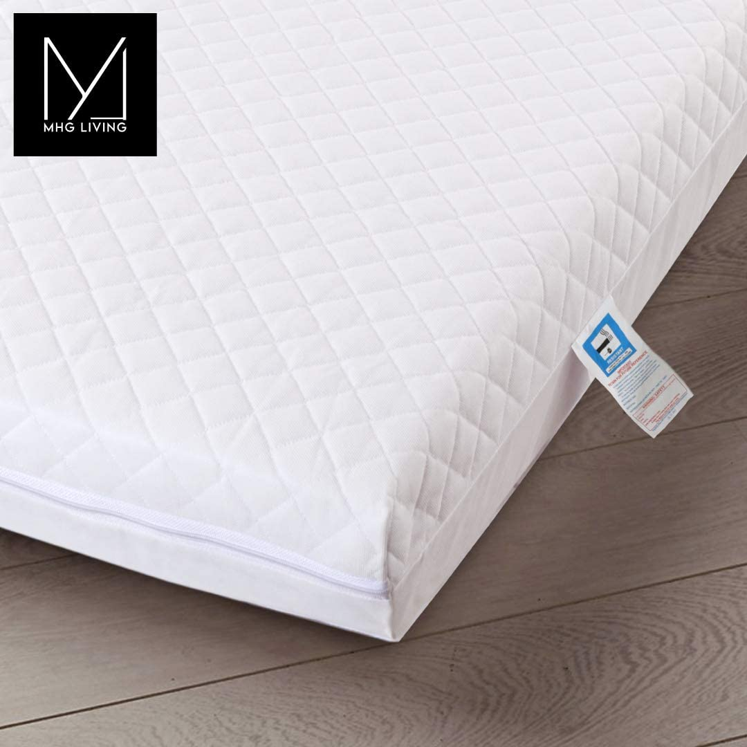 Fits Mothercare and Mamas /& Papas Sizes 120 x 60 x 13 MHG Living/™ Eco Breathable Baby Cot Bed Mattress Quilted Waterproof Cover Extra Thick /& Comfy 120 x 60 x 13 /& 140 x 70 x 13