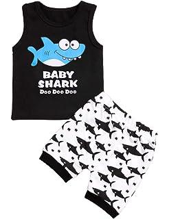 9f03d7eba Amazon.com  Dinlong Infant Baby Boys Girls Clothes Set Pineapple ...