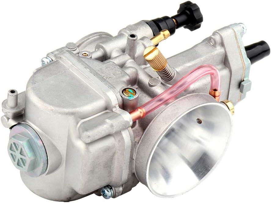 TUPARTS High Perfromerance PWK32mm Carburetors Kit Replacement for Honda CR125 CR80 CR80R CR85R//Kawasaki KX100 KX125 KX80//Suzuki RM65 RM80 RM85 RM85L//Yamaha DT100 DT125 DT175 YZ100 Carb Carburetor