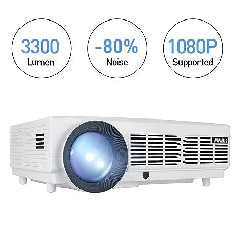 Proyector de vídeo, retroprojecteur Full HD 1080p 3300 lumens LED ...