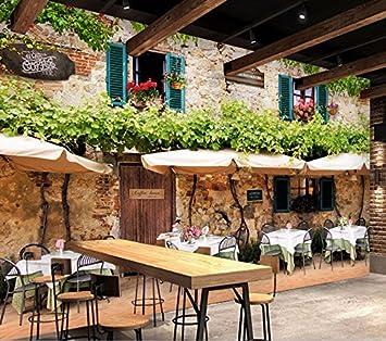 Weaeo Personalizado Mural 3D Wallpaper Room Café De Estilo Europeo ...