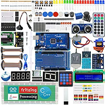 Adeept Ultimate Starter Kit for Arduino Mega2560 LCD1602, Stepper motor,  ADXL345, Learning Kit with PDF Guidebook