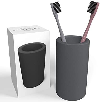 Orgánico Eco gris 1-2-3 cepillo de dientes soporte taza ...