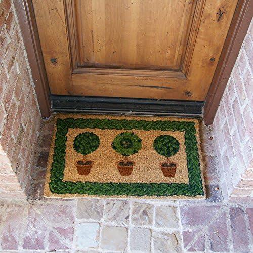 Rubber-Cal Grandma s Plants Decorative Home Colorful Coco Doormat, 18 x 30